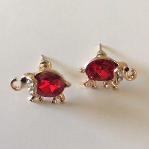 ⚠️Must Bundle⚠️Elephant Rhinestone Earrings